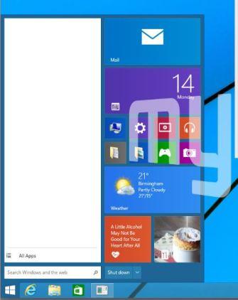 windows9 start menu