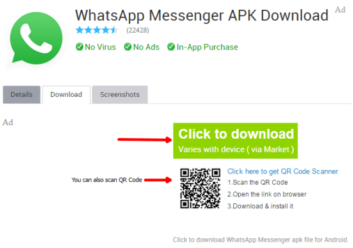 download whatsapp apk android
