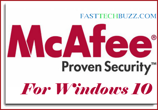 McAfee Windows 10