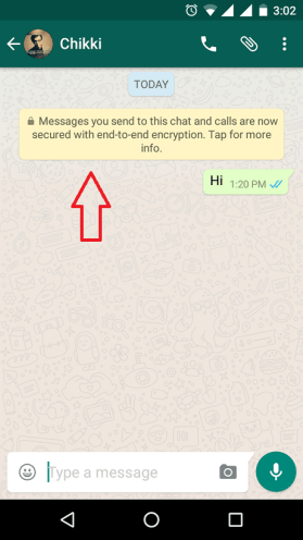 end to end encryption in whatspp message