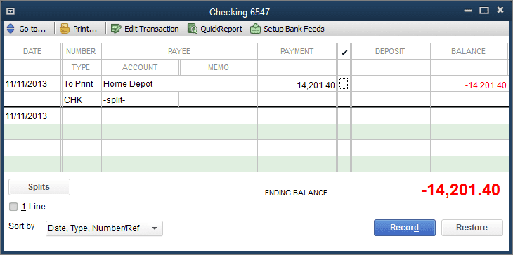 Import Home Depot into QuickBooks  Credit Card Charges App
