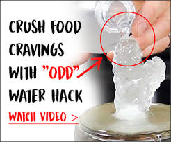 crush food cravings with odd water hack