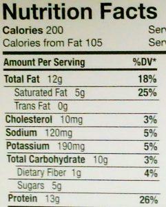 栄養成分表示アメリカ