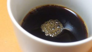 POLAグランシナジー入りのコーヒー