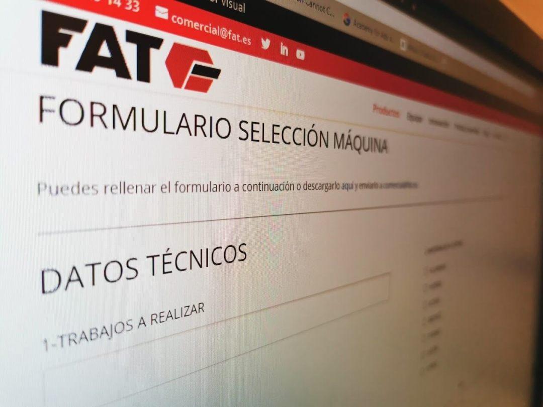 cómo funciona el formulario de selección de máquina FAT