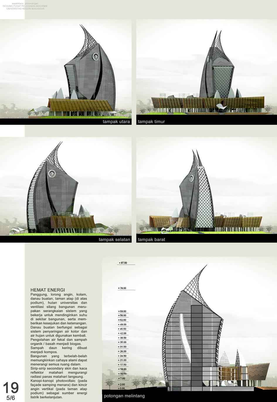 Lanscape Menara Pinisi UNM dari Berbagai Sisi  Hartoto