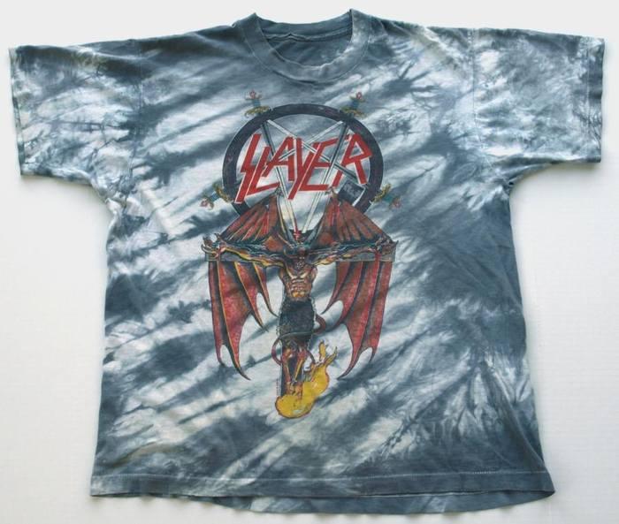 1988 SLAYER Satan Crucifix Shirt