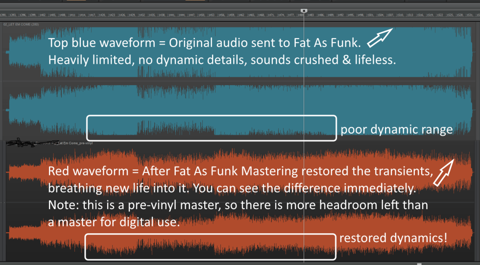 dynamics restored to an audio file which was over-limited and clipping