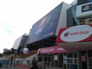 Outside the palais de festivals, cannes. MIDEM