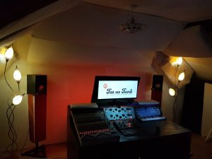 Audio post production control room for tv and film