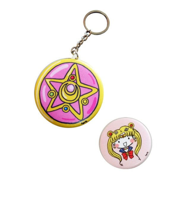 Sailormoon Brooch Mirror Pack - Front