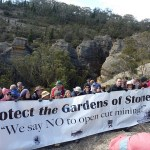 Protest against open cut mining in the Gardens of Stone