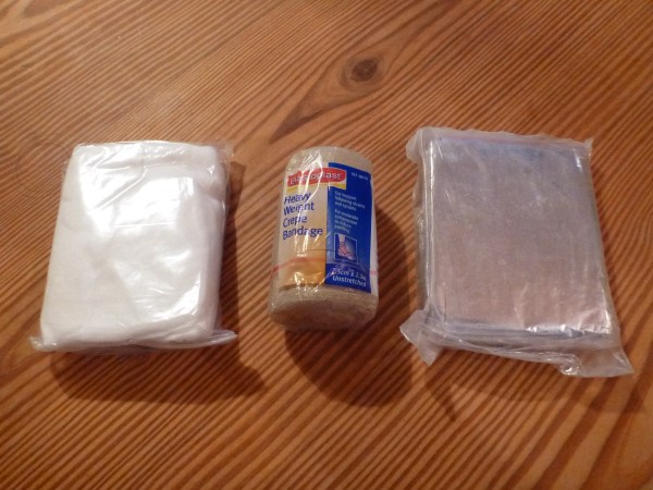 Bandages and space blanket