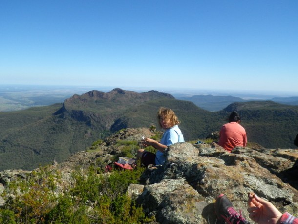 Elevenses overlooking Yulludunida Crater