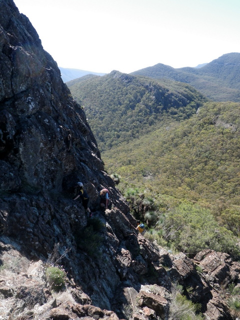 Scrambling up on to the Yulludunida Crater wall