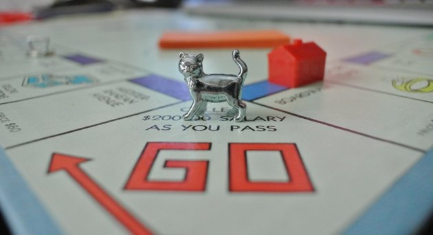 It's about time! Monopoly Cat