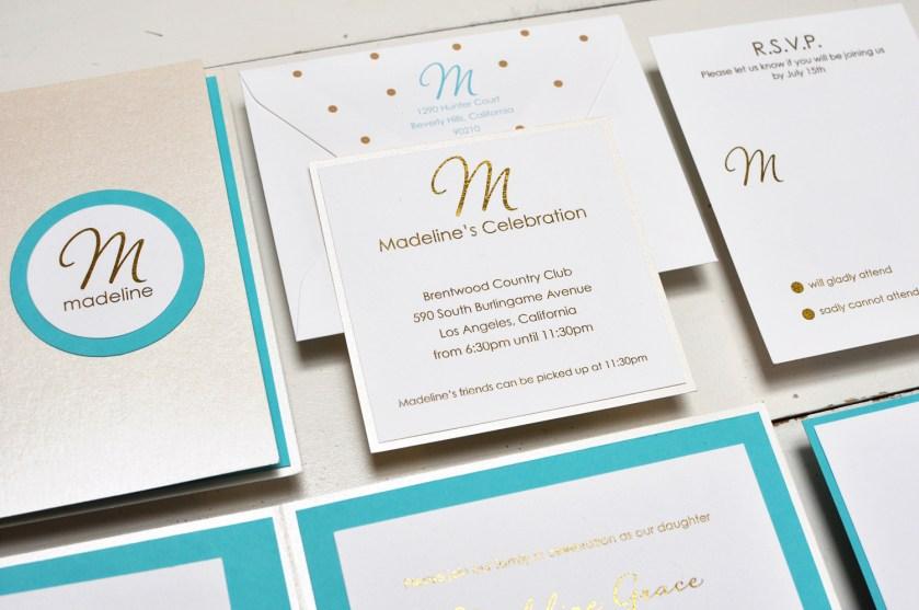 Madeline by B.T.Elements, Glitter Mitzvah Invitation