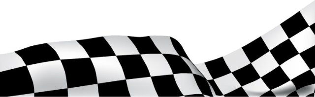 Second checkered race flag banner