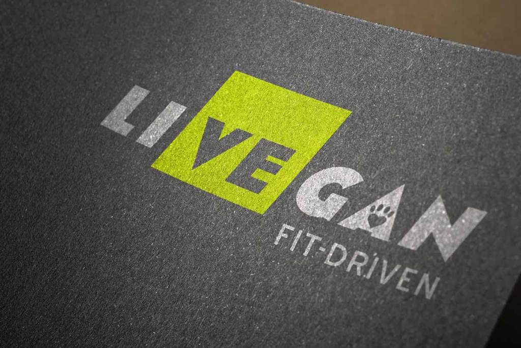 LiVEgan logo mockup