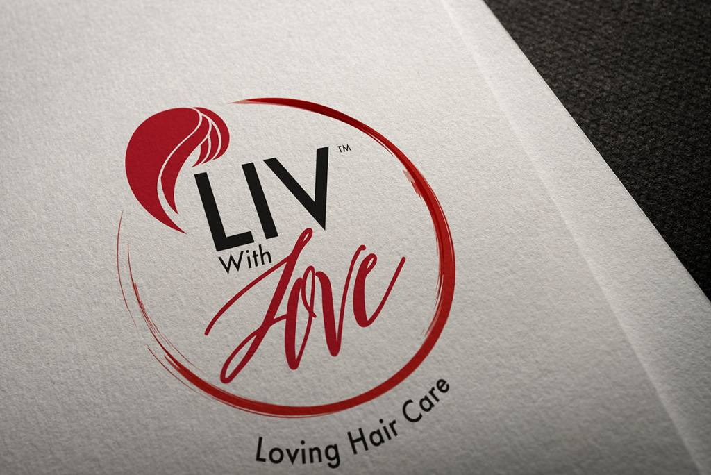 mockup of Liv With Love logo
