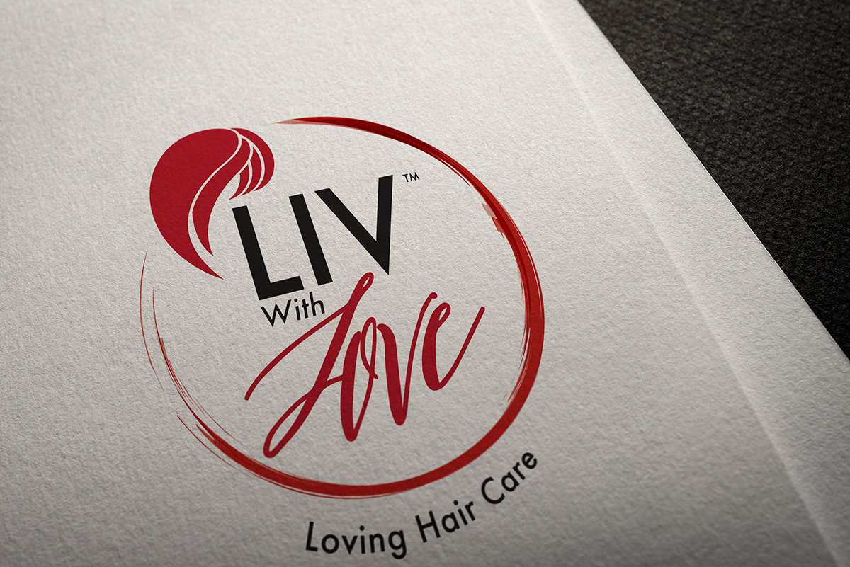 mockup of Liv With Love logo
