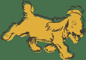 Illustration of a Cocker Spaniel running
