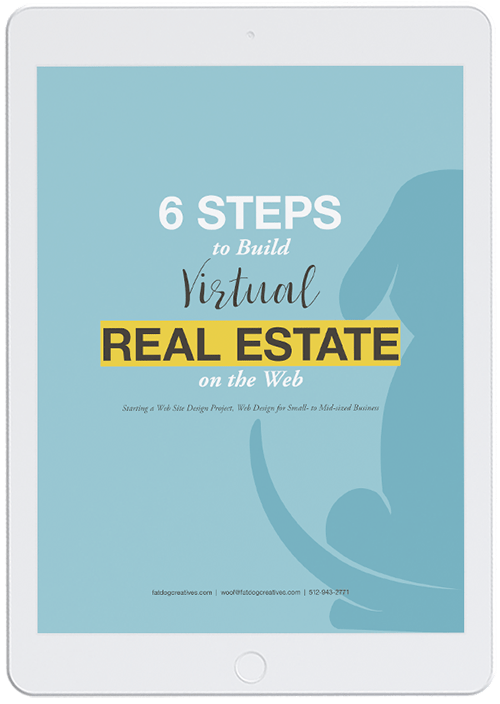 iPad mockup of eBook for Six Steps to Build Virtual Real Estate on the Web