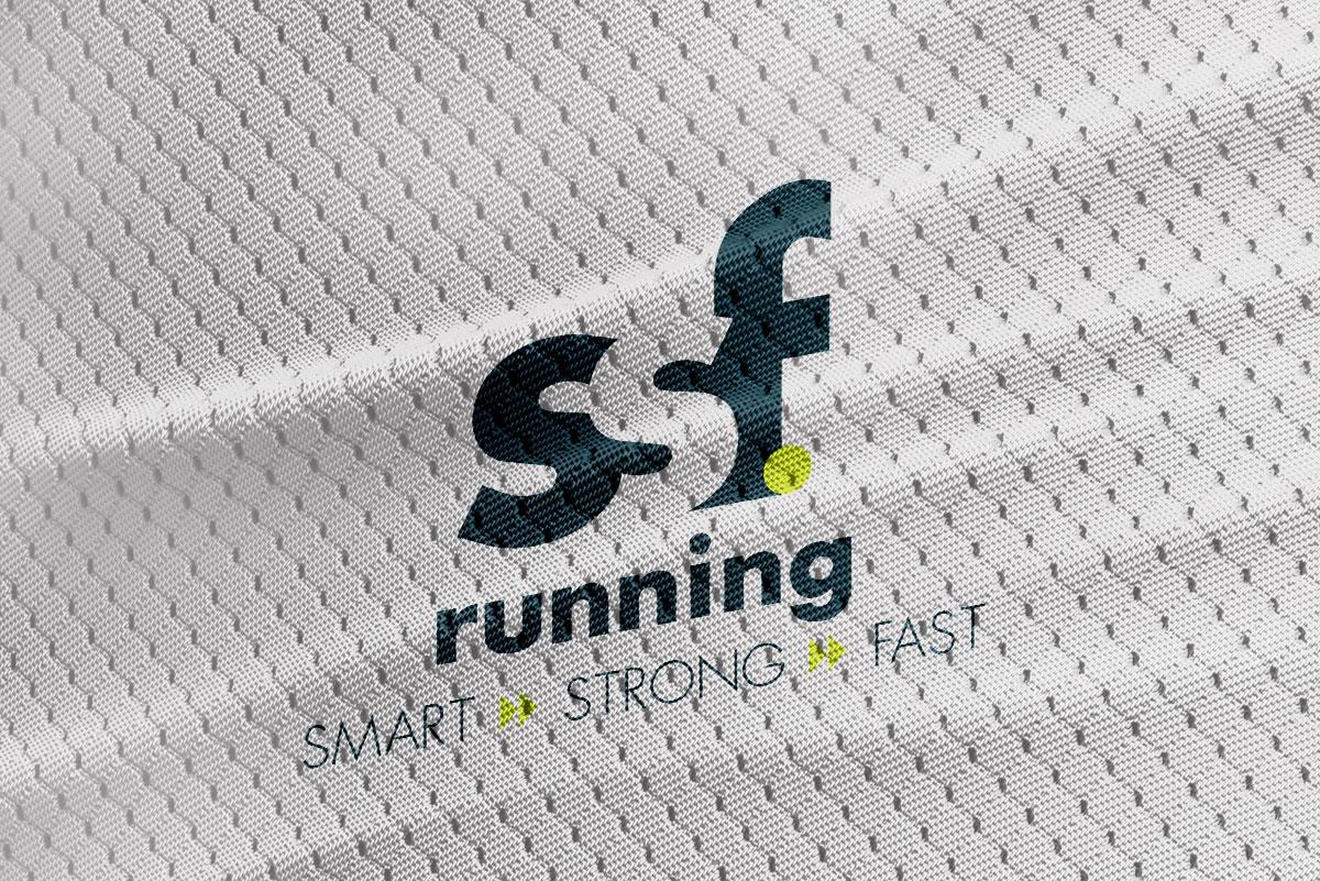 SSF Running logo mockup