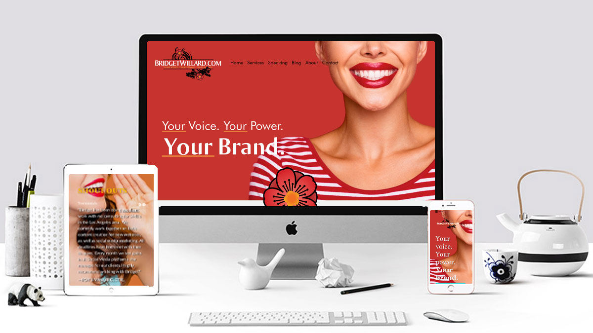 website mockup for Bridget Willard