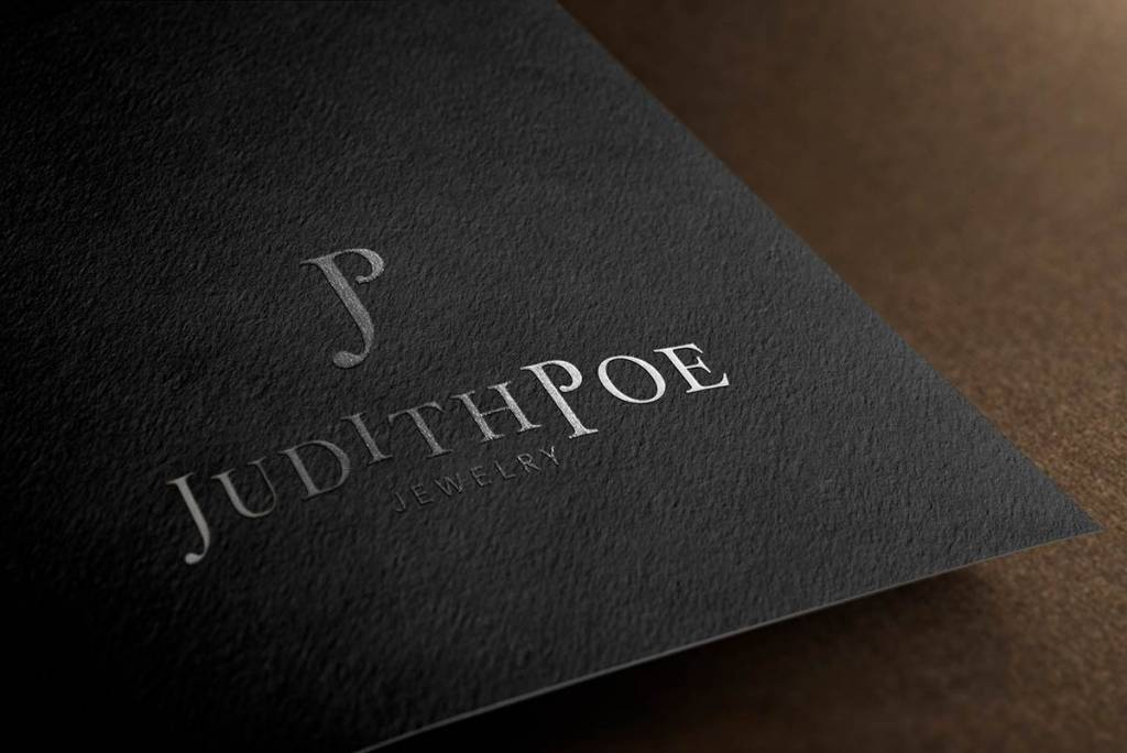 Judith Poe Jewelry luxury brand mockup