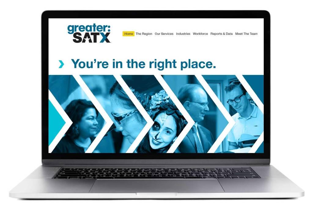 greater:SATX website mockup