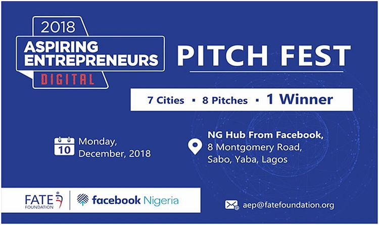 Facebook Nigeria and FATE Foundation to Host the Aspiring Entrepreneurs Digital Pitch Competition