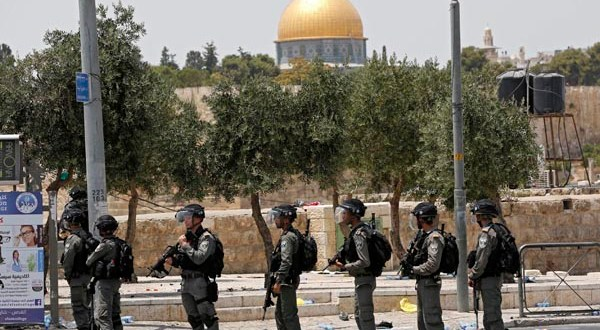 Friday prayer protest against the security measures at the Al-Aqsa Mosque