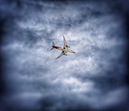 Plane over Silicon Valley