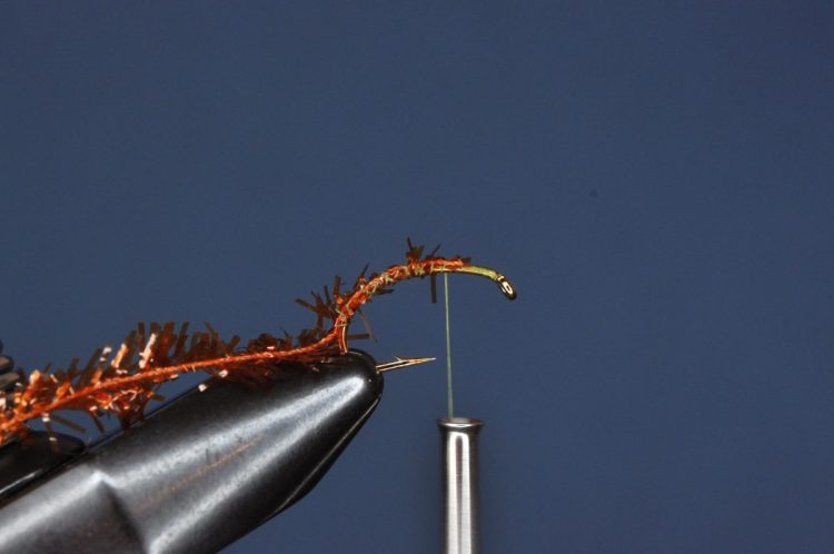 Burnt Chenille Cased Caddis Step-by-Step