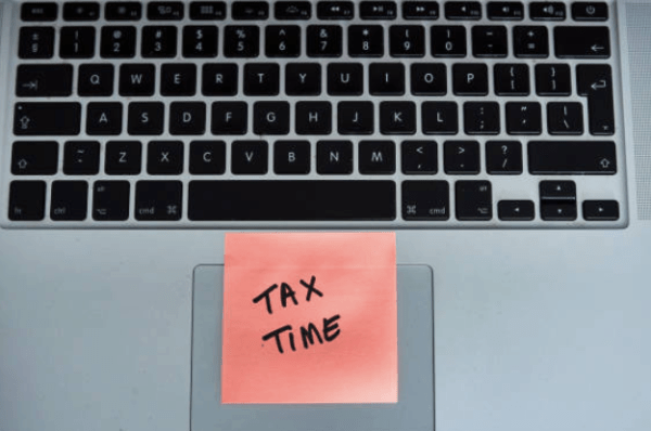 Self-employment tax is paid at year-end, it's not a deduction but it helps you retire