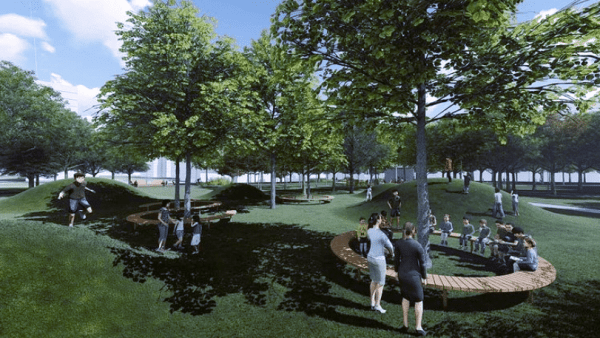 Instead of a private back yards, we could socialize in public parks