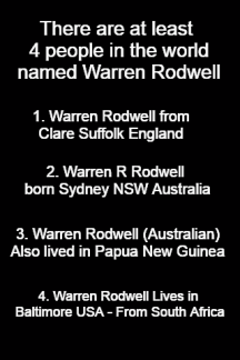 - a List of Warren Rodwell