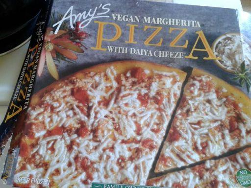 Amy's vegan pizza