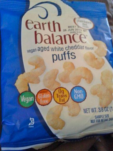 Aged white cheddar puffs by Earth Balance