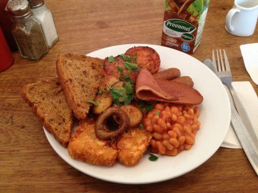 Amazing vegan fry up in Bristol
