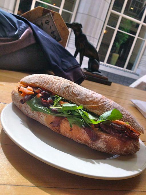 A vegan sandwich