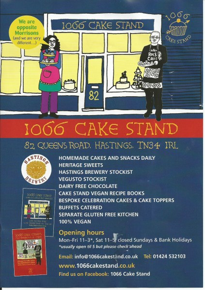 1066 Cake Stand Leaflet - Sep 2014  Front