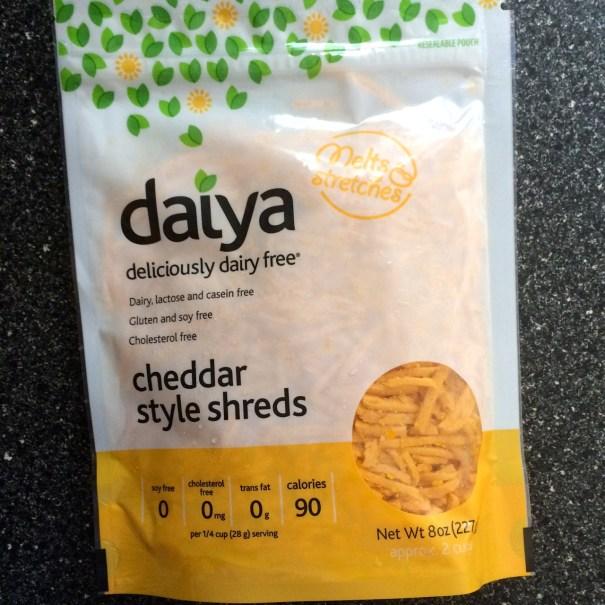 daiya cheddar style shreds bag