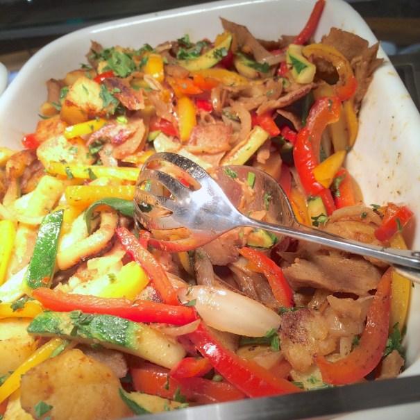 seitan kebab stir fry