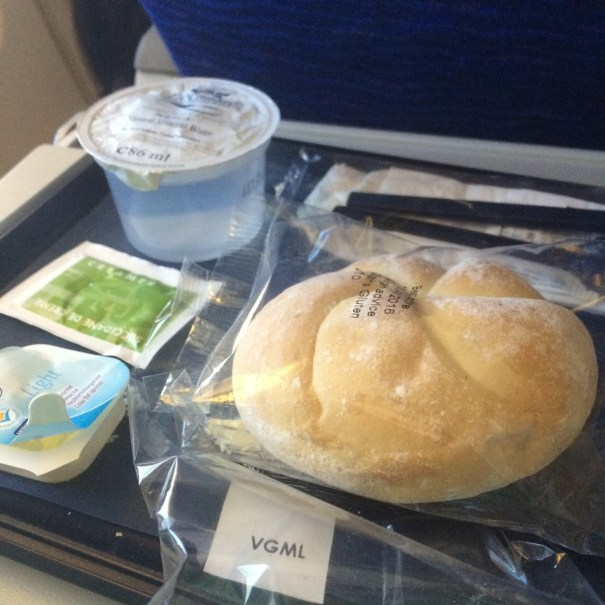 second vegan meal on British Airways