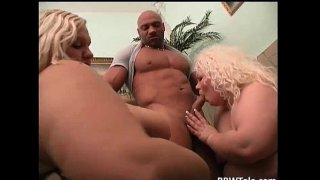 Two blonde fat cows fucks and sucks