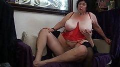 BBW busty fat ass granny anal sex