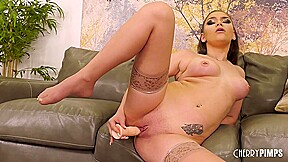 Busty Beauty Athena Faris Masturbating With Toys and Fingers in a Live Show