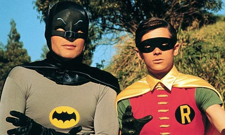 Adam West as Batman, with Burt Ward as Robin